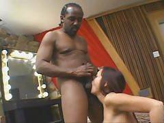 Cheyenne Hunter is a black dick loving older woman. Shes a hot mature brunette with big boobs and a pussy that constantly craves for sex. Cheyenne hooks up with a studly black guy and goes into action swallowing his huge throbbing pole.